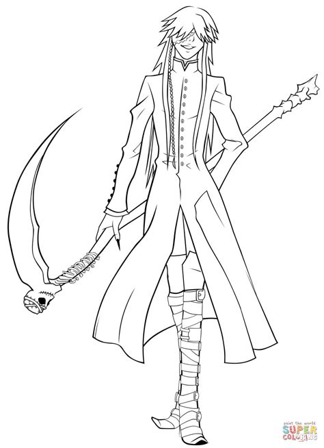 Undertaker Grim Reaper Coloring Page Free Printable Grim Reaper Coloring Pages