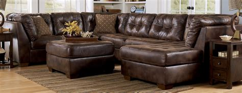 Leather Sectional Sofa Decor Mesmerizing Brown Leather Sectional Sofa For Living