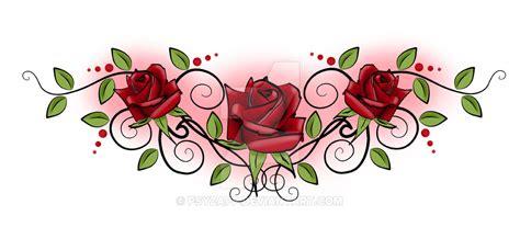 rose tramp stamp by psyzapp on deviantart