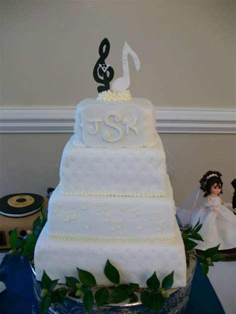 Music Themed Wedding Cake   Things I've Made   Pinterest