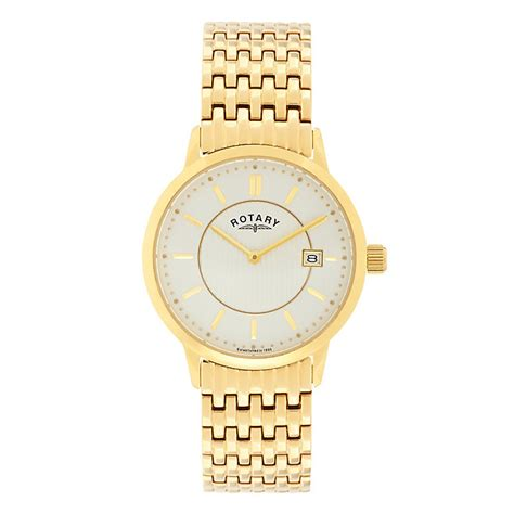 rotary s yellow gold plated bracelet h samuel