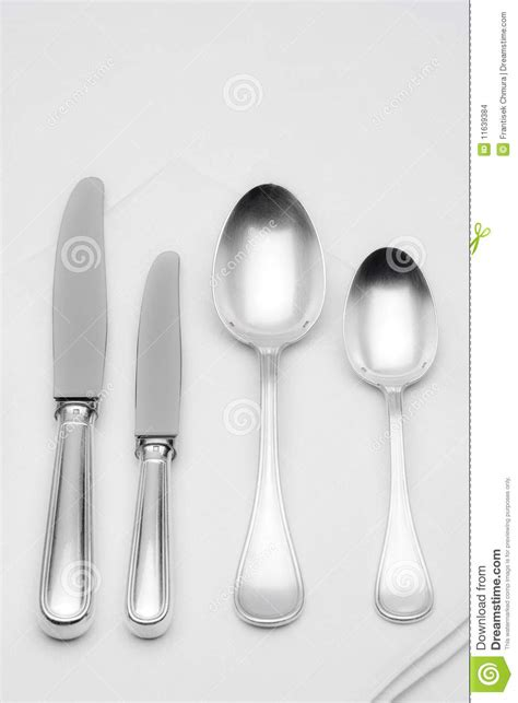 How To Set Silverware On Table by Silverware Stock Images Image 11639384