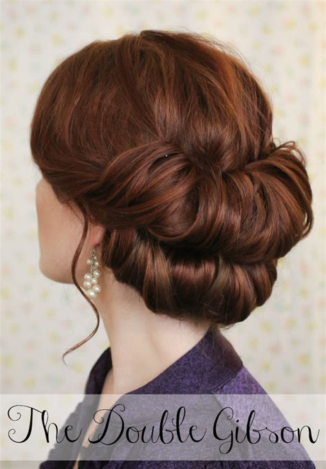 Gibson Hairstyle by The Freckled Fox Hair Week The Gibson