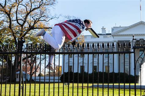 white house fence jumper white house on lockdown after man draped in american flag jumps fence nbc news