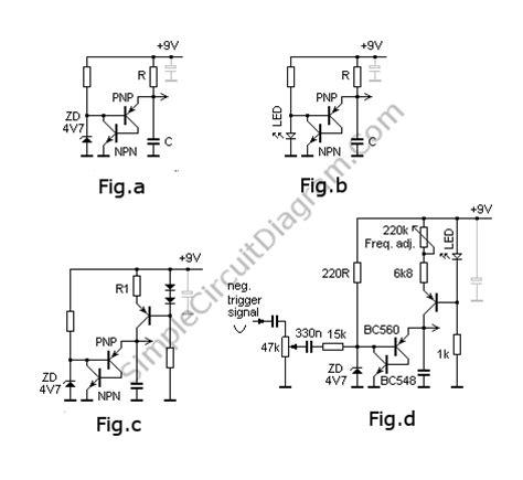 npn transistor oscillator sawtooth generator oscillator with transistors simple circuit diagram