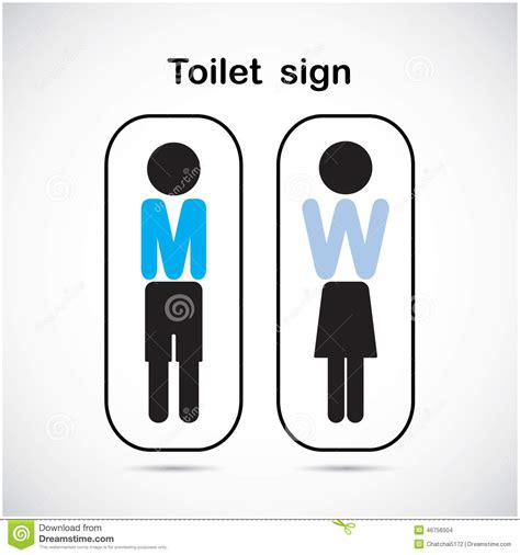 Man And Woman Toilet Sign, Restroom Symbol . Stock Vector   Image: 46756504