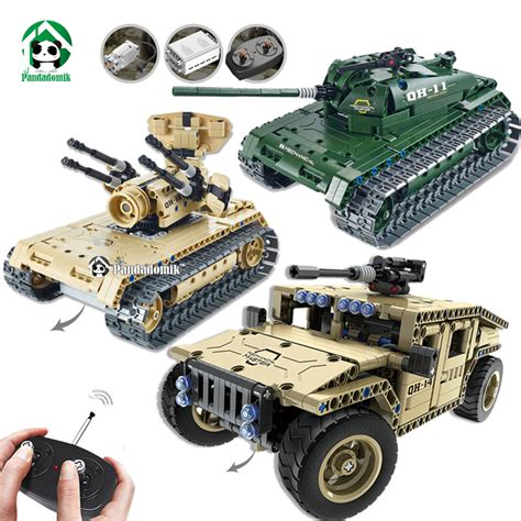 Bricks Ausini 20109 Remote Car pandadomik hummer rc tank building blocks remote toys for boys weapon army rc