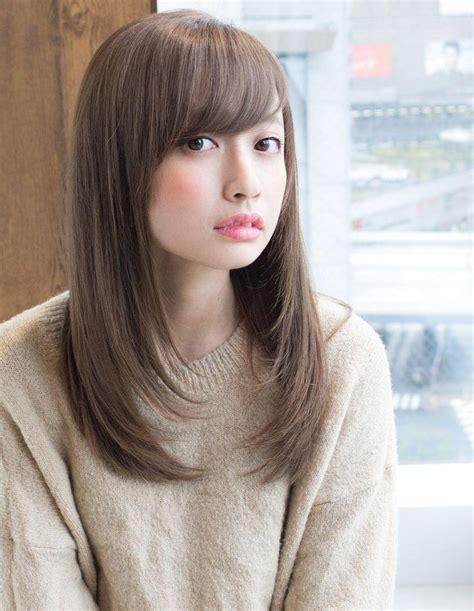 japanese haircut with long front pieces 2018 popular long layered japanese hairstyles