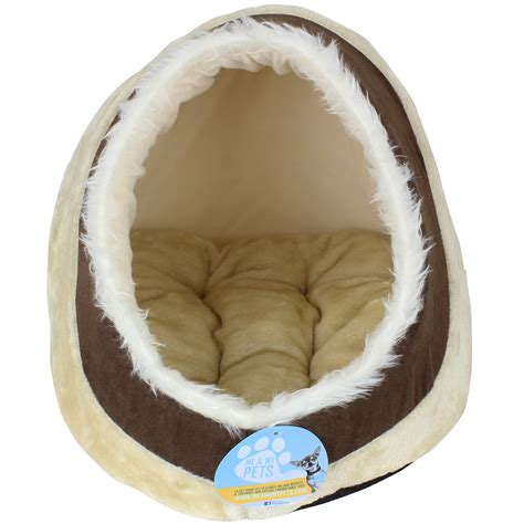 igloo dog bed me my soft plush igloo pet bed cat kitten dog puppy warm