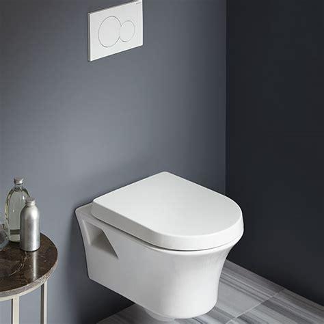 toilette  double chasse  fixation murale standard