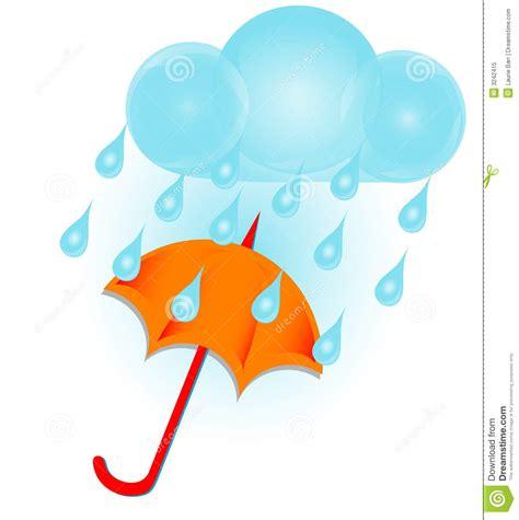 clipart pioggia nube ed ombrello di pioggia fotografia stock libera da