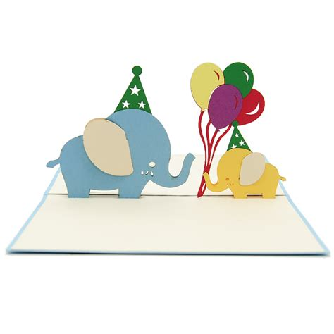 elephant pop up card template cards make your own ideas hijriyah s
