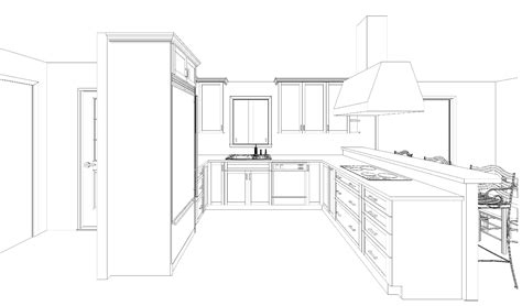Draw Kitchen Cabinets Architecture Design Drawing Room Yapidol How To Draw Interior Loversiq