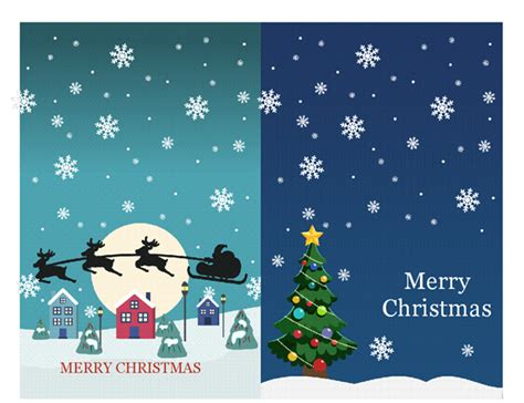 Microsoft Word Templates Place Holder Cards Winter by Note Cards Spirit Design 2 Per Page