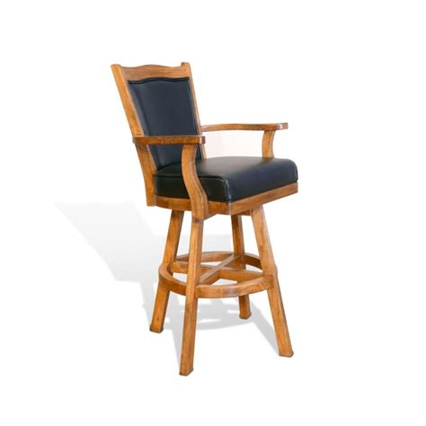 rustic wooden bar stools with cushion and designs sedona 30 quot swivel bar stool with cushion in