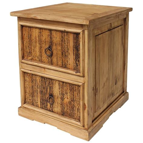 Rustic File Cabinet Rustic Pine Collection Small File Cabinet Esc08