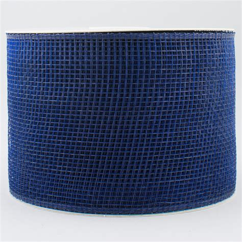 4 quot poly deco mesh ribbon navy blue rs200119