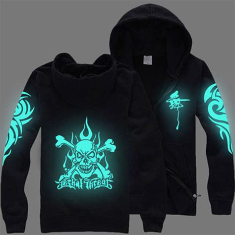 autumn anime skull hoodies zipper hooded hip