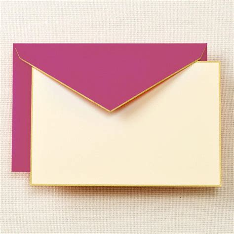 card envelope gold bordered correspondence cards and envelopes
