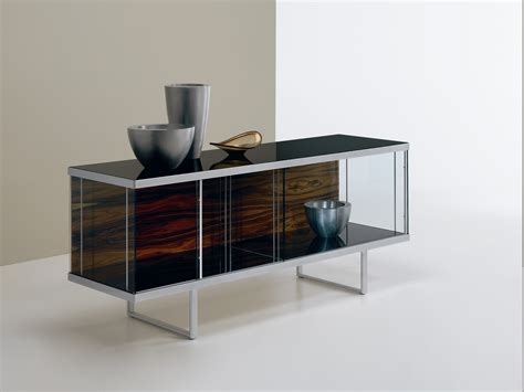 Sideboards With Glass Doors Glass Sideboard With Sliding Doors Broadway Low Broadway Collection By T D Tonelli Design