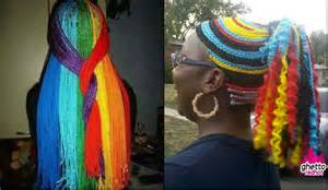 multi colored braids multi colored rainbow box braids you will be impressed