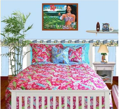hawaiian themed bedding girls twin size surf bedding the hawaiian home