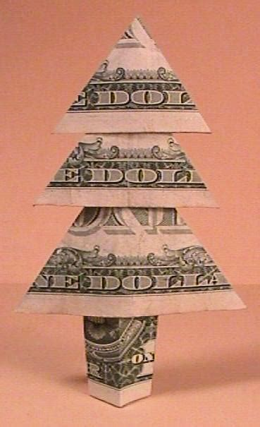 Dollar Bill Origami Tree - money tree by clay randall