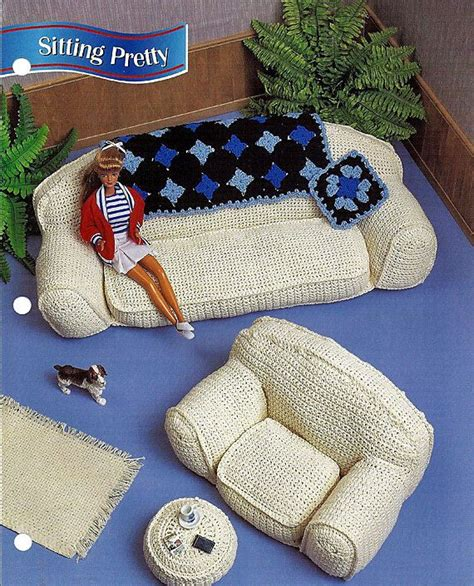 fashion doll furniture patterns sitting pretty fashion doll living roon furniture annies