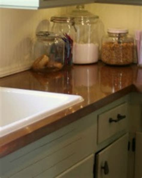 Diy Copper Countertop by Remodelaholic How To Spray Paint Faux Granite Countertops
