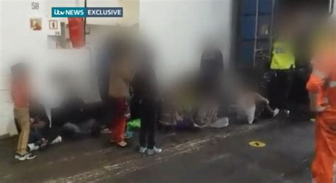 Container Storage Essex - moment 35 afghan sikhs were freed from shipping container at tilbury docks daily mail online