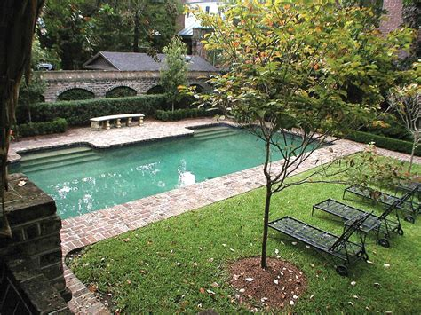 Rectangular Backyard Landscaping Ideas Pool Tiles Tile Design And Ideas Backyard Landscaping With Rectangular Of Weinda