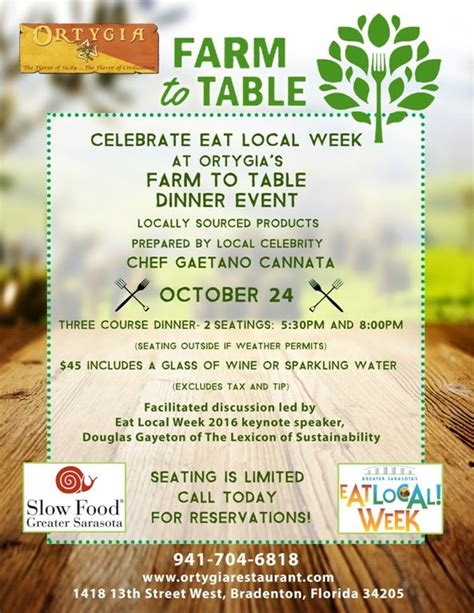 farm to table events sarasota manatee originals farm to table dinner event at