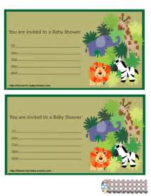 6 free printable safari baby shower invitations