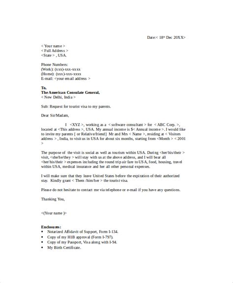 Letter Of Support For Tourist Visa Application Sle Visa Sponsorship Letter 7 Documents In Pdf Word