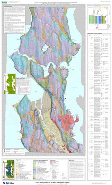 seattle geologic map the geologic map of seattle a progress report