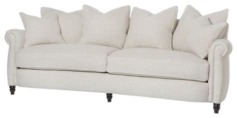 down feather couch cortona classic rolled arm feather down oatmeal sofa 90