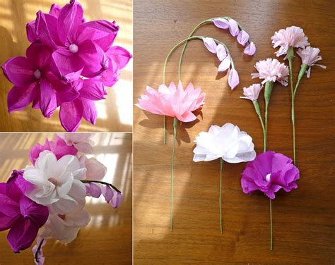 Craft Ideas With Tissue Paper - craft tissue paper flowers craftshady craftshady