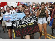 Democratic National Convention opening disrupted by Bernie ... Hillary Supporters Attack Trump Supporters