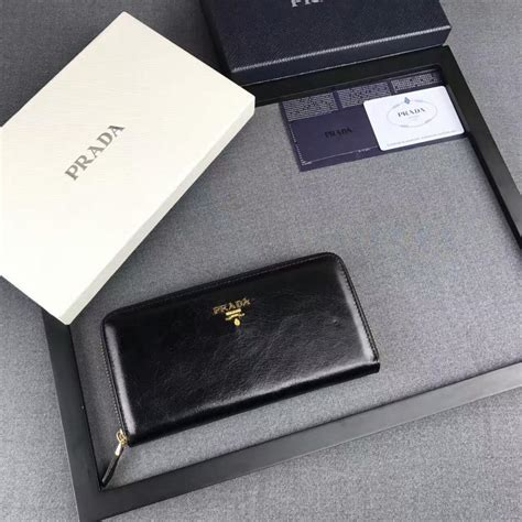 Lettering Wallet prada 1m0506 lettering logo leather wallet in black