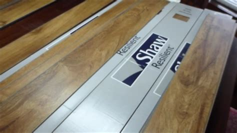 Installation & review of Shaw vinyl floor tile.   YouTube