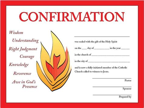 Confirmation Certificate Template confirmation certificates religion holy spirit free printable and confirmation