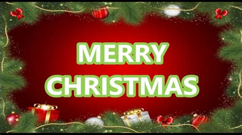 merry christmas video beautiful wishes  card greeting christmas  card