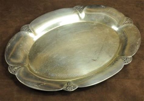 Rogers 411 Lookup Wm Rogers Silver Plate 11x8 Quot Oval Tray Reticulated 411