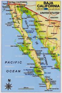 map of california and baja california baja map