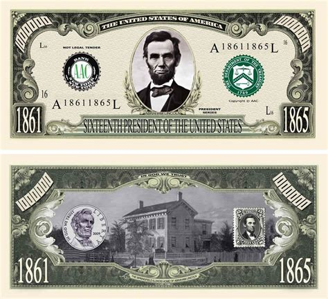 abraham lincoln on dollar fakemillion abraham honest abe million dollar bill