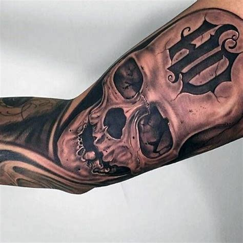 Tattoo Oberarm Motorrad by 90 Harley Davidson Tattoos For Men Manly Motorcycle