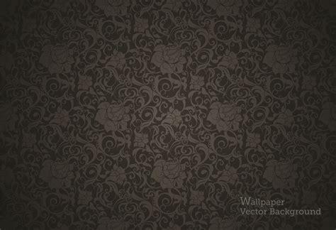 black pattern ai シームレスな黒い植物柄の壁紙 seamless wallpaper pattern black ai eps