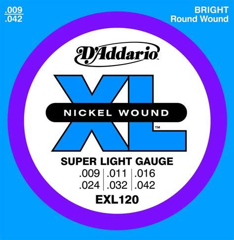 D Addario Electric Guitar Strings Exl 120 Nickel Wound D Addario Light Strings