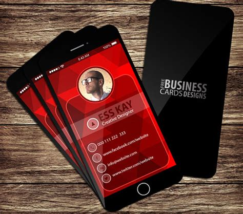 Business Card Iphone Template by 50 Magnificent Free Business Cards Design Templates