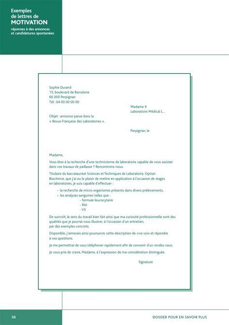 Modèle De Lettre De Demande D Emploi Secretaire Exemples De Lettres De Motivation